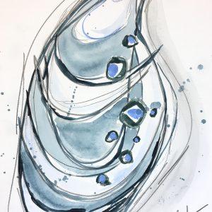 "Watercolor shell no. 7  9""x12""  $60"