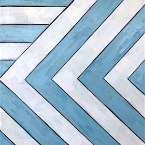 "Poolside No. 1  30""x40"" $1800  Available at Serena & Lily Atlanta"