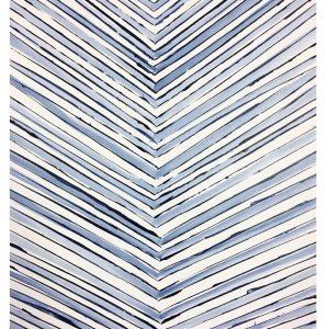 SOLD / Color Line Blue  24x18