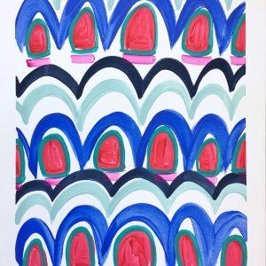 Color Study Cobalt  16x12  $125