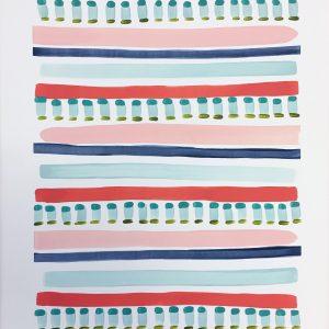 Color Study Coral 2  24x18  $175