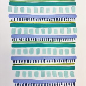 SOLD - Color Study Teal 2  16x12  $125