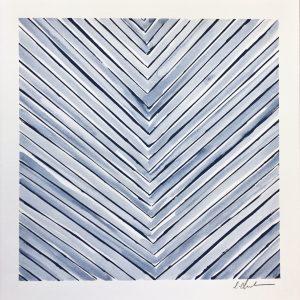 SOLD - Color Line Blue Square  12x12  $175