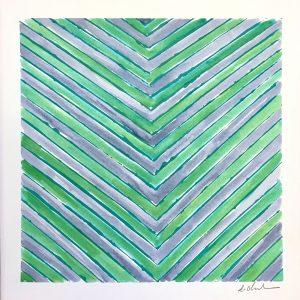 Color Line Blue/Green Square  12x12  $175