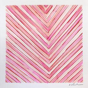 Color Line Pink Square  12x12  $175