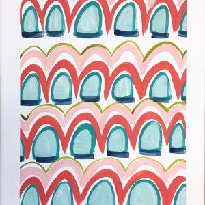 Color Study Coral  24x18  $175